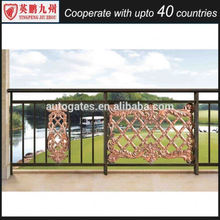 New design casting aluminum prefab metal stair railing for porch