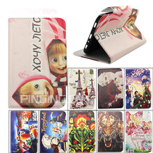 Colorful printing leather flip stand case for Amazon kindle fire Hd 6 tablet leather case