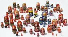 Muñeca rusa matrioska con imágenes de flores, hecha a mano, arte original de Rusia