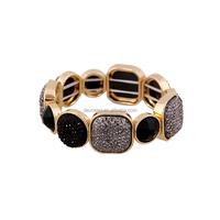 Free sample Strecth crystal jade wire bracelet