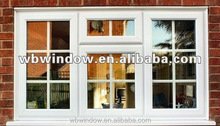 Energy efficient Plastic/Vinyl side hung house windows,Plastic/Vinyl white opening glass windows with grilles