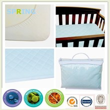 Quilted White Waterproof Cover - Fits Standard Sized Baby & Toddler Mattresses