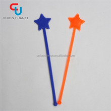Disposable Stirrers Swizzle Stick Party Used Swizzle Flat Sticks With Star Top