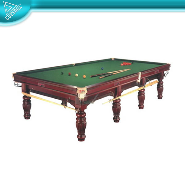 Cuesoul solid wood snooker game table 9ft 10ft 12ft for 10ft snooker table