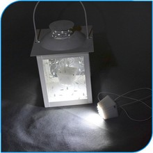 Novelty Promotional Bright 12 LED Paper Lantern Light For Mid Autumn Festival