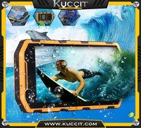 Military Grade PTT IP68 rugged Waterproof Smartphone MTK6582 Quad Core Android4.2 3G GPS two way Radio phone in Walkie Talkie H6