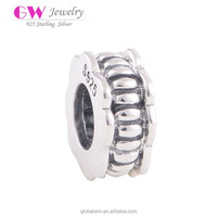 Fashion 925 Sterling Silver European Bead Vintage Charm Women DIY Jewelry Findings Fit For European Style Bracelet