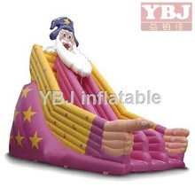 Santa Claus commercial use inflatable slide/cheap bouncy slide on sale