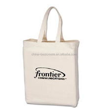 High quality Canvas tote cotton bag with printed logo two sides