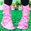 2015 Beautiful pure color Women Waterproof rain PVCshoe cover