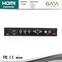 HDMI to YPbPr Component RCA or VGA D-Sub R L Optical DTS5.1 Audio Converter