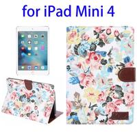 Wholesale Price with Card Slots Leather for iPad Mini 4 Wallet Case with Sleep / Wake-up Function