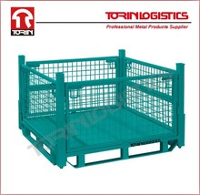 Warehouse storage Werks Collapsible Mesh Stillage Heavy Duty security cage factory supplier(L1140*W1140 mm/OEM)