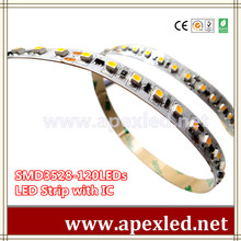 programmable led strip with ic smd 3528 120LED chips FESTIVAL LED LIGHT