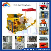 Cheaper price in wholesale price!!small semi automatic mobile cement block machine/Mini egg laying concrete block making machine