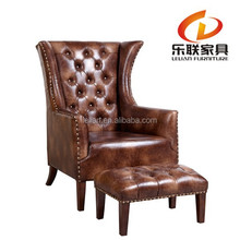 royal pink king throne chair, PU bergere chair, leather barcelona chair FD14A12