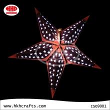 Popular paper handicraft hanging christmas lighting decoration star lantern