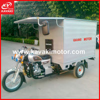 Hot sale africa market 150cc 175cc 200cc tricycle/speed trike/cargo motorcycle close cabin