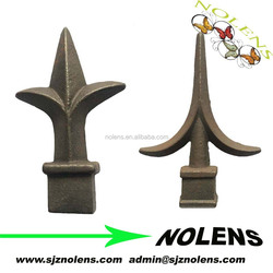 Wrought Cast iron forging iron metal fence finial/Grey iron casting spear points