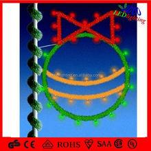 PVC wreath Christmas Decorative light / PVC heart LED garland for holiday