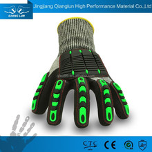 13G HPPE kintted sandy nitrile coated anti cut gloves