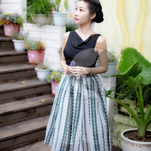 China Manufacturer New Fashioned Luxury matching skirt and tops