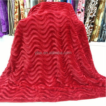 fashionable and elegant S shape design bedspreads mink blankets queen size