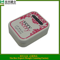 mint tin box with hinge/ lip balm tin box for man or lady/ mint tin box