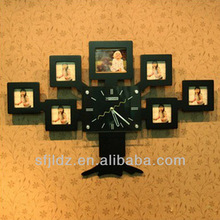 Casual fashional basketball cartoon wooden desk clock hands