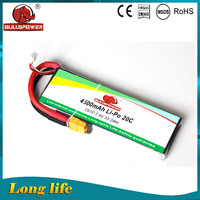Small li-po rechargeable battery 4500mah 7.4v 20C tester for toy