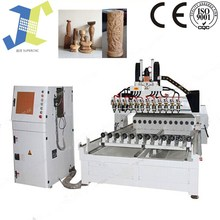 Cylindrical wood cnc router with multi-heads