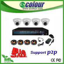 Hot sell 4CH cctv ahd hd camera kit system with dome camera security h.264 cctv dvr kits