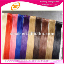 Factory Wholesale Pink Hair Invisible Tape Hair Extensions, Double Sided Tape Hair Extensions
