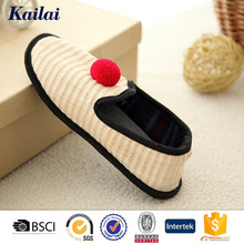 high quality and low price leisure shoe with straw upper