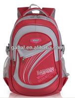 2015 waterproof nylon sports high school backpack bag for girls ,wholesale teenager school bags