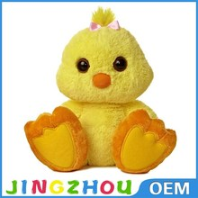 Promotion cute fluffy plush chicken toy, stuffed chicken plush toy for sale