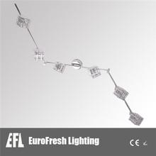 China Manufacture High brightness brushed chrome adjustable led ceiling spot light, European standard spot light