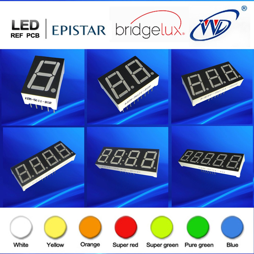 numeric Display Function ultra red 0 56 inch 7 segment led display 2 digit