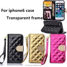 2015 new products mobile phone case for iphone 6 wallet stand iphone 6 case for 4.7inch apple tpu cover