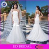 2015 Simple White Mermaid Ruffle Organza Cheap Wedding Dresses Made In China