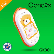 Concox Direct manufacture Mini Size Lovely GPS Baby Tracking Phone GK301 Check Location via Calls/SMS Command