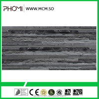 Slate type flexible modified clay material breathability durability decorative stone for wall cladding