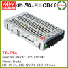 Meanwell TP-75A triple output switching power supply 75w