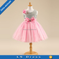 girls boutique pink color clothing baby birthday princess dresses