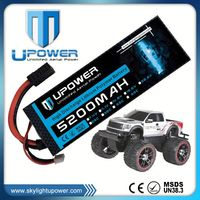 Upower high rate C 5200mah 3800mah 22.2v 25c rc car bettery pack for rc drift car