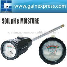 ZD-06 O ph do solo& verificador de umidade medidor 295mm longa eletrodo