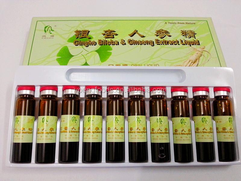 エネルギー飲み物のイチョウBiloba及び朝鮮人参の口頭液体