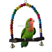 Wooden Bird Parrot Swing Toys Parakeet Cockatiel Lovebird Budgie Cage Hanging Toy New