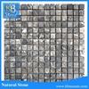 Small Square Natural Stone Emperador Dark Mosaic Wall and Floor Tiles Design