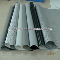 Cinema projection screen/fabric, front/rear/perforated/3D silver